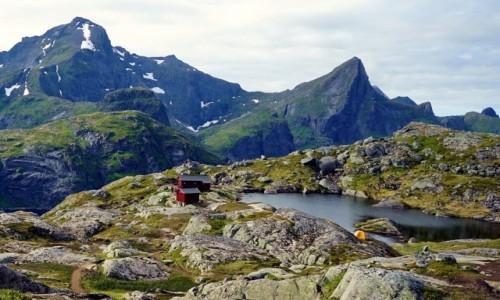 Zdjęcie NORWEGIA / Lofoty / Wyspa Moskenesøya / Schronisko Munkebu