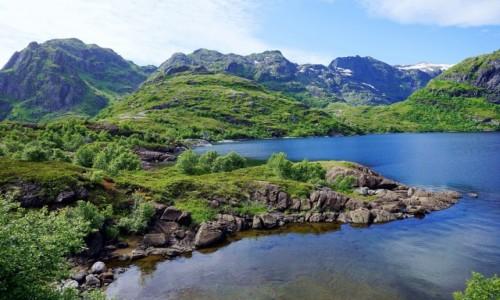 Zdjęcie NORWEGIA / Lofoty / Wyspa Moskenesøya / W drodze na Munken