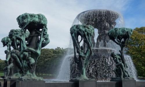 Zdjecie NORWEGIA / Oslo / Park Vigelanda / Skulptuuripark