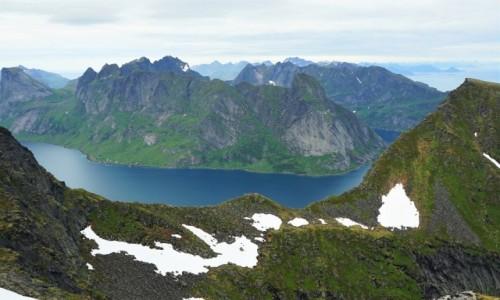 Zdjęcie NORWEGIA / Lofoty / Wyspa Moskenesoya / Błękit Lofotów