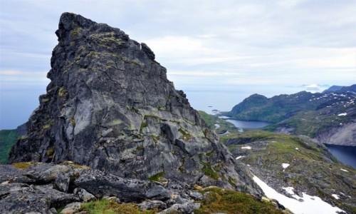 Zdjęcie NORWEGIA / Lofoty / Wyspa Moskenesoya / Szczyt Munken