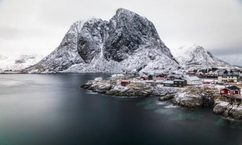Zdjęcie NORWEGIA / Lofoty zachodnie / Hamnoy / Lofoty zimą