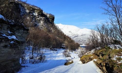 Zdjecie NORWEGIA / Troms / Oldervik / Twarz śpiącego Wikinga