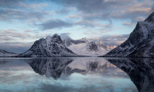 Zdjecie NORWEGIA / Lofoty zachodnie / Lofoty zachodnie / Lofoty zimą