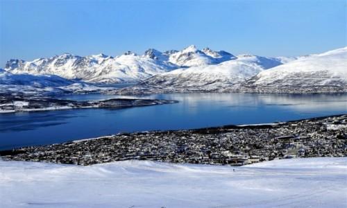 Zdjecie NORWEGIA / Troms / Tromsø / Dwa brzegi