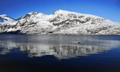 NORWEGIA / Troms / Ersfjordbotn / Odbicie