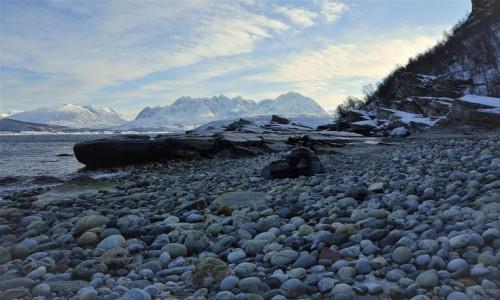 Zdjecie NORWEGIA / Troms / Oldervik / Na plaży