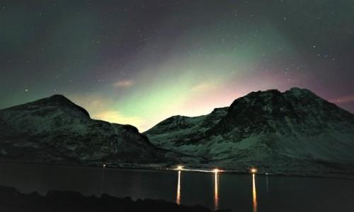 Zdjecie NORWEGIA / Troms / Kvaløyvågen / Światła nocy