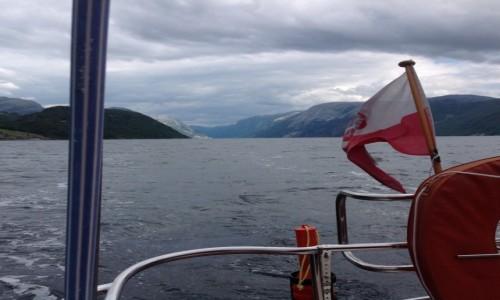 Zdjecie NORWEGIA / Stavanger / Fiordy / Fiordy widziane z jachtu