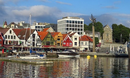 Zdjecie NORWEGIA / Norwegia południowo zachodnia / Stavanger / stare miasto