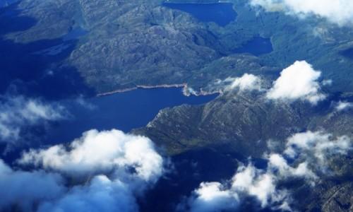 Zdjęcie NORWEGIA / Norwegia południowo - zachodnia / pokład samolotu / Norwegia południowo zachodnia z lotu ptaka