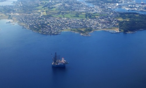 NORWEGIA / Norwegia południowo - zachodnia / pokład samolotu / Norwegia południowo zachodnia z lotu ptaka