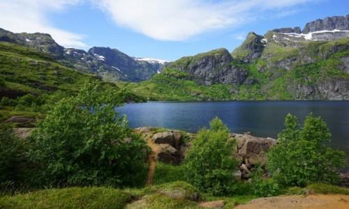 Zdjecie NORWEGIA / Lofoty / Sørvågen, Wyspa Moskenesoya  / W drodze naTindstind