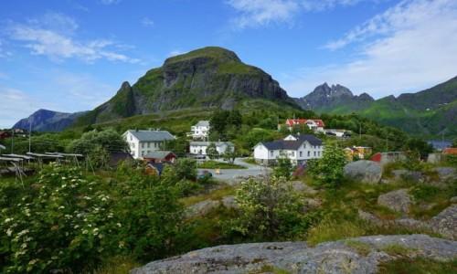 Zdjecie NORWEGIA / Lofoty / Å, Wyspa Moskenesoya  / Góra Tindstind