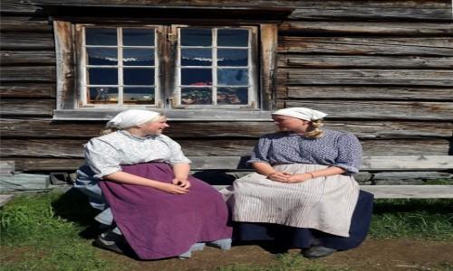 Zdjecie NORWEGIA / Trondheim, Sverresborg  / Trondelag Folk Museum / Pogaduszki