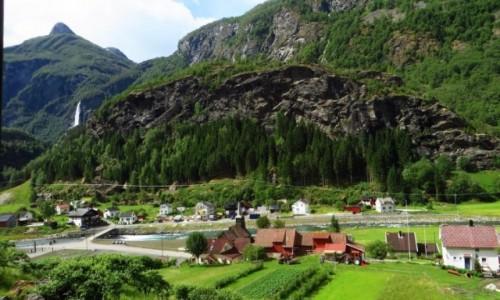 Zdjęcie NORWEGIA / Norwegia południowo - zachodnia / trasa kolejki flamsbana Myrdal - Flam / norweskie krajobrazy