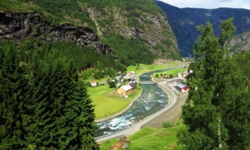 Zdjecie NORWEGIA / Norwegia południowo - zachodnia / trasa kolejki flamsbana Myrdal - Flam / norweskie krajobrazy