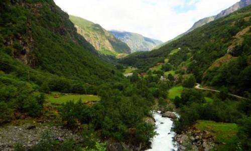 Zdjęcie NORWEGIA / Norwegia południowo zachodnia / trasa kolejki flamsbana Myrdal - Flam / norweskie krajobrazy