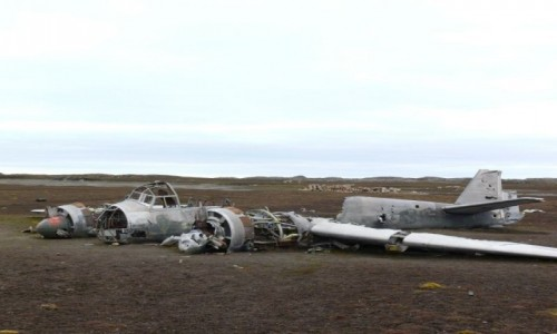 NORWEGIA / Szpicbergen / Svalbard Zachodni / Junkers JU88
