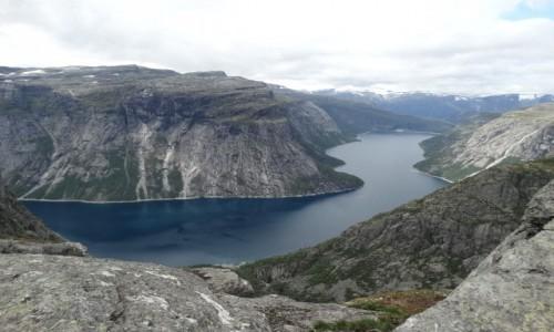 Zdjecie NORWEGIA / Skjeggedal / Troltunga / Krajobraz