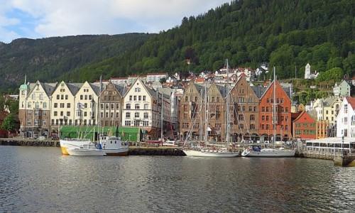 Zdjęcie NORWEGIA / Norwegia południowo - zachodnia / Bergen / widok na Bryggen