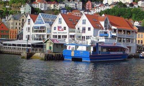 Zdjęcie NORWEGIA / Norwegia południowo - zachodnia / Bergen / widok na nadbrzeże