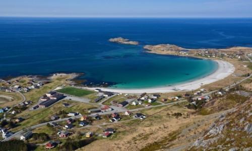 Zdjecie NORWEGIA / Nordland / Nibben / Plaża w Ramberg...