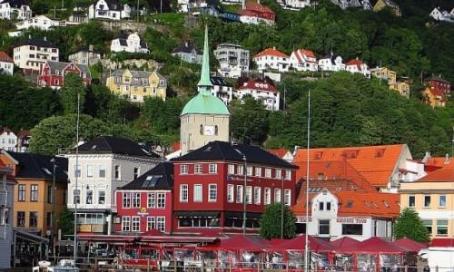 Zdjęcie NORWEGIA / Norwegia południowo - zachodnia / Bergen / widok na Torget