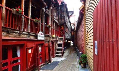 Zdjęcie NORWEGIA / Norwegia południowo - zachodnia / Bergen / Bryggen - stare miasto Bergen