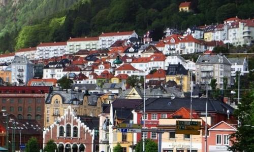 Zdjęcie NORWEGIA / Norwegia południowo - zachodnia / Bergen / panorama Bergen