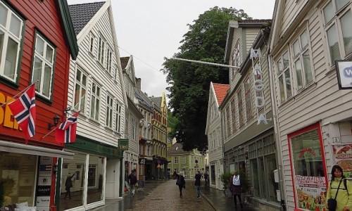 Zdjęcie NORWEGIA / Norwegia południowo - zachodnia / Bergen / ulice Bergen