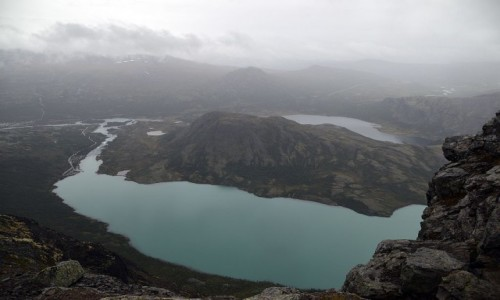 Zdjecie NORWEGIA / Oppland / Bessegen / jezioro Gjende