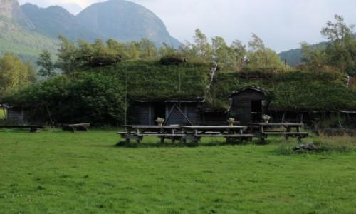 Zdjecie NORWEGIA / Sirdal / Skansen / Wioska wikingów