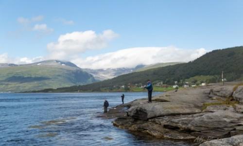 Zdjecie NORWEGIA / Północna Norwegia  / Tromso / Wędkarze