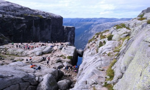 Zdjecie NORWEGIA / Rogaland / Kjerag / Kjeragbolten