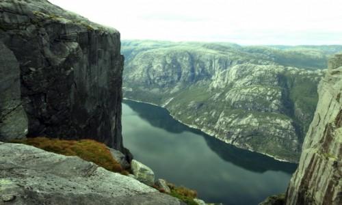 Zdjecie NORWEGIA / Rogaland / Kjerag / Lysefjord z Kjerag