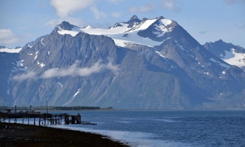 Zdjecie NORWEGIA / Troms / Lyngenfjord / Alpy Lyngeńskie
