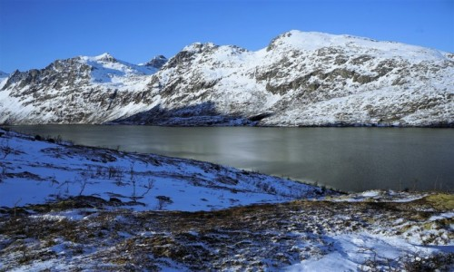 NORWEGIA /  Troms / Ersfjordbotn / Krajobraz