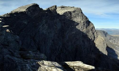 Zdjecie NORWEGIA / More og Romsdal / Trollveggen / Trollveggen z góry