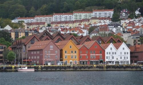 Zdjecie NORWEGIA / Vestland / Bergen / Architektura Bergen