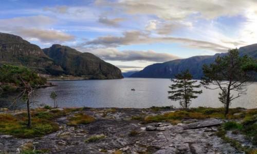 Zdjecie NORWEGIA / Vestland / Stanghelle / Veafjorden, Norwegia