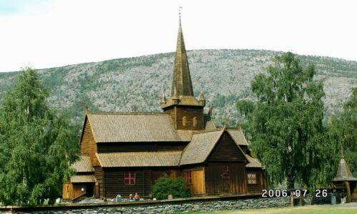 Zdjęcie NORWEGIA / brak / Lom / Stavkirke