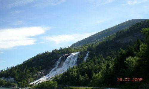 Zdjecie NORWEGIA / brak / park / wodospad