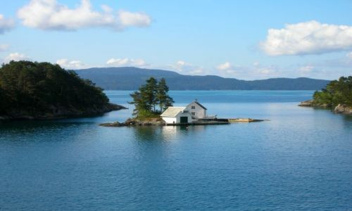 Zdjecie NORWEGIA / brak / Norwegia / Samotny dom