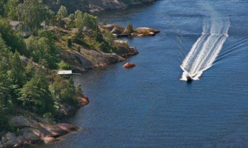 Zdjęcie NORWEGIA / brak / SVINESUND  Granica Szwecja Norwegia / Fiord 1