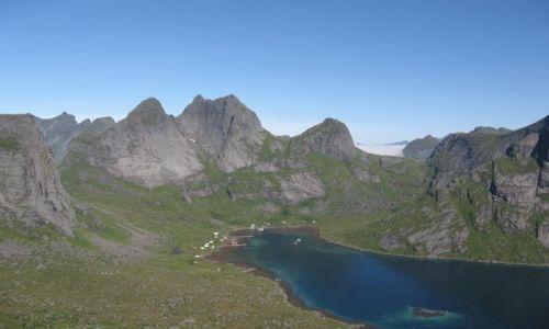 Zdjecie NORWEGIA / Lofoty / Moskenes / Fiord