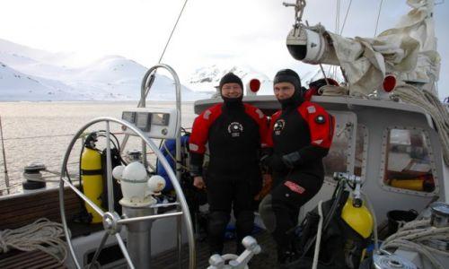 Zdjecie NORWEGIA / Svalbard / fjord w pobliżu Stacji Arktycznej PAN / wyjątkowo chłodny Dzień Dziecka