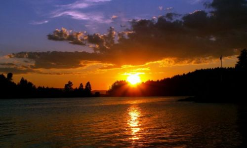 Zdjęcie NORWEGIA / Skandynawia / Gansvika / Zachód słońca 08