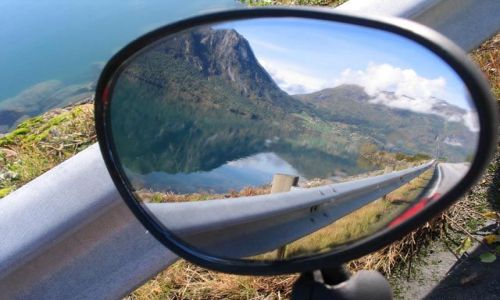 NORWEGIA / Góry Skandynawskie / Andalsnes / Góry - widok alternatywny
