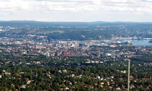 Zdjecie NORWEGIA / Skandynawia / Oslo / Widok ze skoczni 03